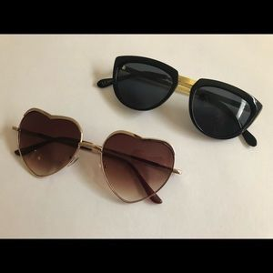 😻ASOS😻 2 for 1 Heartshaped and Cateye Sunglasses